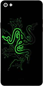 Snoogg Snake Stylin System Designer Protective Back Case Cover For Micromax Canvas Silver 5 Q450