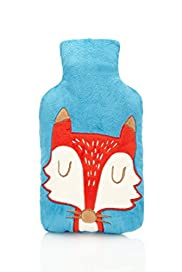 Hot Water Bottle with Fox Cover [T21-6454J-S]|FO32