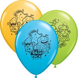 Trash Pack Latex Balloons (6 Pack) - Party Supplies