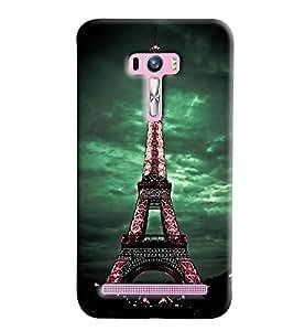Blue Throat Eiffil Tower Lighting Printed Designer Back Cover/ Case For Asus Zenfone Selfie