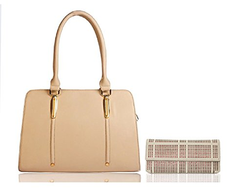 Whiteflower-Womens-Handbag-With-Wallet-BeigeWf0112Wf0066Beige