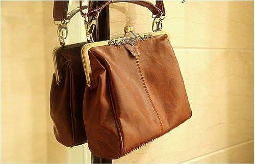 11. Oryer Retro Vintage Lady Woman PU leather Shoulder Purse Handbag Totes Bag Satchel