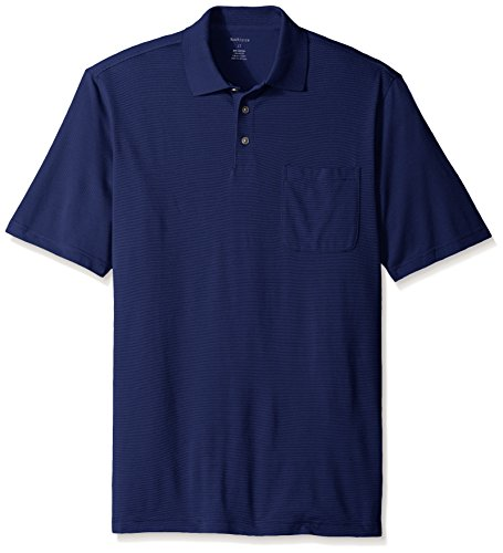 Van heusen men 39 s big tall short sleeve feeder stripe chest for Big and tall polo shirts with pockets