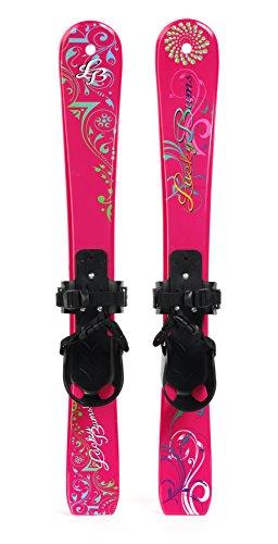 Lucky Bums Kids' Beginner Snow Skis, Pink Paisley - 70 Centimetre