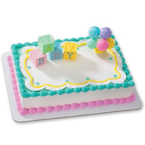B-A-B-Y Blocks DecoSet Cake Decoration