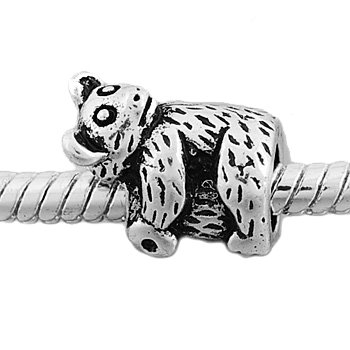 Antique Silver Koala Bear Bead Charm Spacer Bead