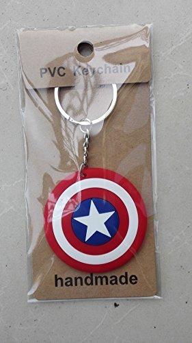 Cody Lundin DC Comics Star Shield Logo Rubber Portachiavi