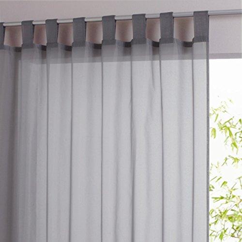 La Redoute Plain Hemmed Voile Panel For Wide Bay Windows