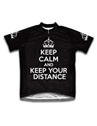 Keep Calm and Keep Your Distance Short Sleeve Cycling Jersey for Women