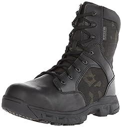 Bates Men\'s Code 6 Multicam 8 Inch WP S Zip Waterproof Boot, Black/Multicam, 8.5 M US