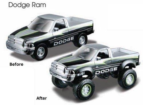 Assembly Line Lifters Silver & Black Dodge Ram Metal Kit Model (Dodge Ram Model Kit compare prices)