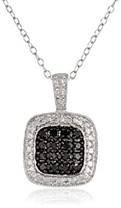Sterling Silver and Diamond Pendant Necklace (0.25cttw), 18