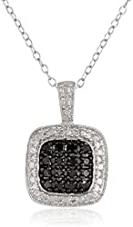 Sterling Silver and Diamond Pendant Necklace (0.25cttw), 18""