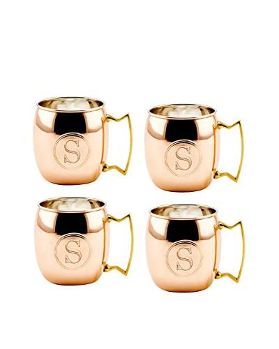 Old Dutch Set of 4 Copper 16-Oz. Moscow Mule Mugs Monogrammed S