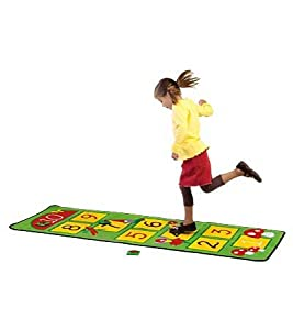 Enchantingly Illustrated Forest Friends Hopscotch Rug from Learning Carpets