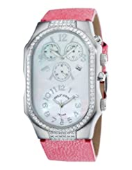 Philip Stein Women's 3DDFFSMOPGP Chronograph Double Diamond Extra Large Watch