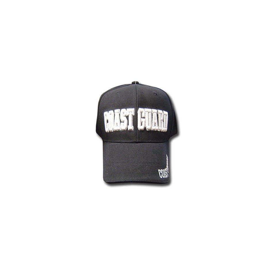BLACK COAST GUARD LAW ENFORCEMENT BASEBALL CAP HAT BLK