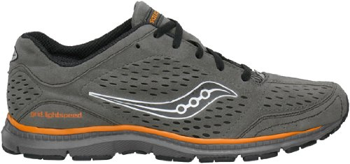 Saucony Men's Grid Lightspeed Running Shoe,Grey/Black/Orange,12 M US