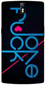 Timpax Protective Hard Back Case Cover Full access to all features. ports of the device including microphone, speaker, camera and all buttons. Printed Design : Pink and blue letters.Compatible with ONE PLUS ONE