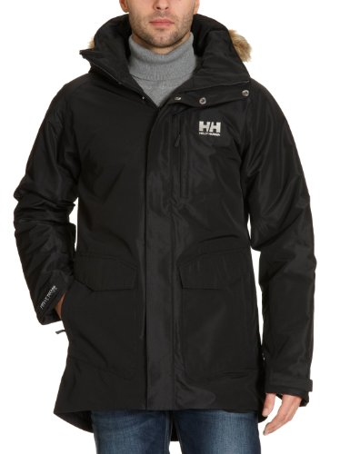 Helly Hansen Men's Dublin Parka Jacket (Black, X-Large)