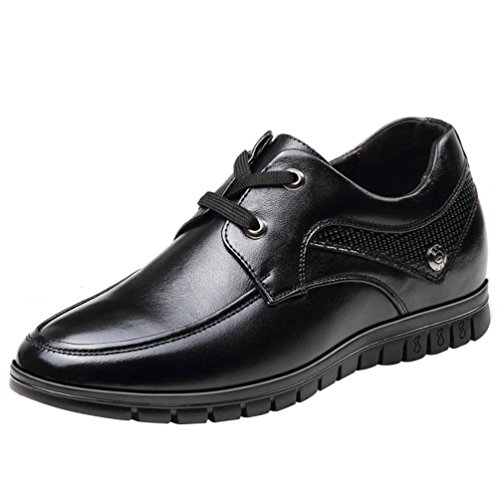 Freerun Men's Lace-up High Increase within Business Dress Leather Oxfords (9.5 B(M)US,black) (That 70s Show Outfits)