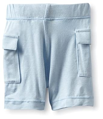 KicKee Pants Baby-boys Infant Solid Boy Basic Short, Pond, 3-6 Months