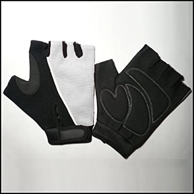 White / Black Amara Cycling / Gym Training Gloves Ultra Light Weight *medium* M from Solid-Fitness