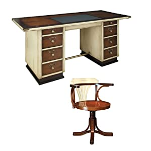 Captain 39 S Desk With Purser 39 S Chair Ivory And