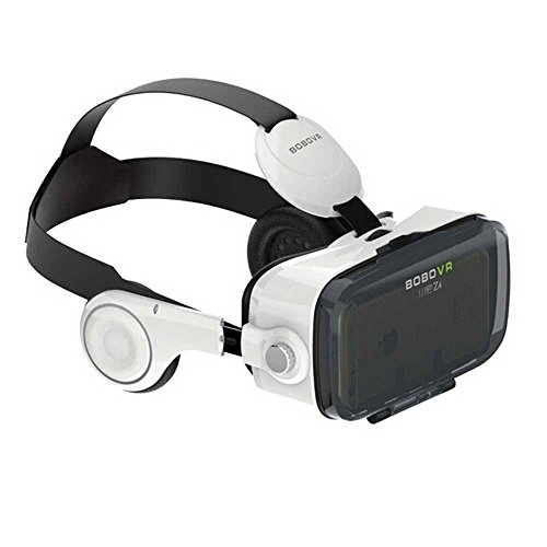 Xiaozhai BOBOVR Z4 3D VR Virtual Reality Headset 3D Glasses VR BOX with Headphone for 4.0~6.0 Inches IOS Android Smartphones, Real Immersive private theater