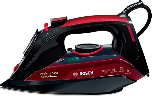 Bosch TDA5070GB Steam Iron, 0.3 Litre, 3050 Watt - Black and Red