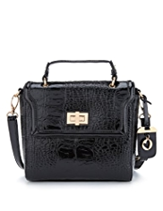 Per Una Faux Snakeskin Design Boxy Cross Body Bag