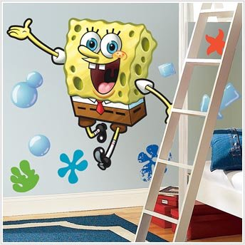 Beautiful Spongebob Peel Stick Giant Wall Decal