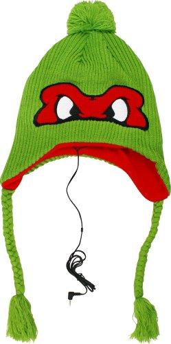 Teenage Mutant Ninja Turtles Raphael Face Headphones Laplander Knit Cap