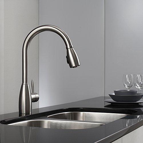 Kraus Kpf 2130 Single Lever Stainless Steel Pull Out Kitchen Faucet Hardware Plumbing Plumbing