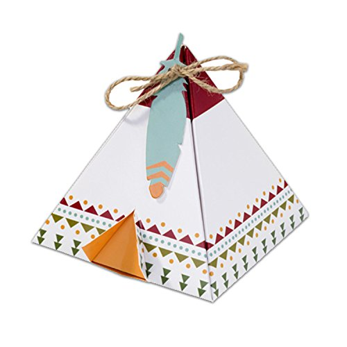 Talking Tables de Pow Woe Cabane tipi et étiquettes pour boîtes à biscuits-Lot de 6