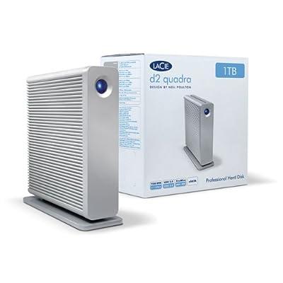 LaCie d2 Quadra v3 Hard Disk 2 TB eSATA/FireWire800/USB 3.0 Desktop External Hard Drive 301543U (Aluminum)