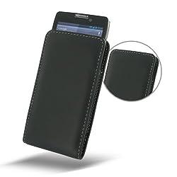 Motorola Droid RazrHD Leather Case - XT925 XT926 - Vertical Pouch Type (NO Belt Clip) (Black) by PDair