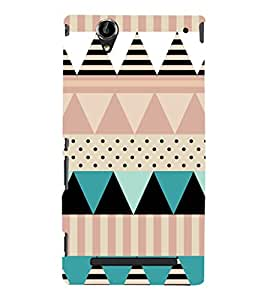 EPICCASE dots and angles Mobile Back Case Cover For Sony Xperia T2 (Designer Case)