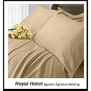 light tan bed sheets