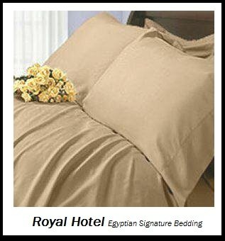 Royal Hotel's Solid Tan 1200 Thread Count 4pc Queen Bed Sheet Set 100% Egyptian Cotton, Sateen Solid, Deep Pocket, 1200 TC