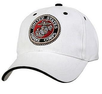 White low profile cap - usmc g & a logo