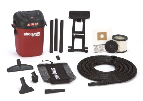 Shop-Vac 3940100 3.5-Gallon 3.0-Peak HP Wall Mount Wet/Dry Vacuum (Water Shop Vac compare prices)