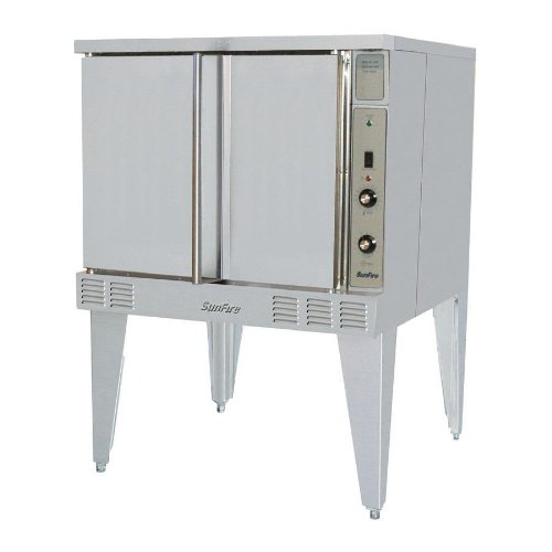 Natural Gas Sunfire Sco-Gs-10S Gas Single Deck Convection Oven With 2 Speed Fan And Interior Lights