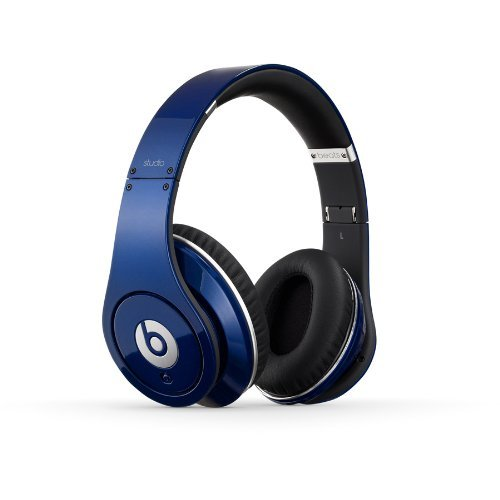 Beats By Dr. Dre Studio High-Power Amplifier Ergonomically Designed Over-Ear Headphones (Blue)