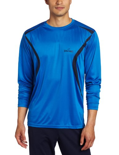 Spalding Men's Active Long Sleeve Crew Neck Shirt