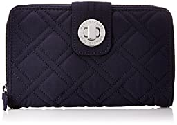 Vera Bradley Turnlock Wallet, Classic Navy, One Size