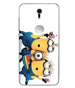 Case Cover Minions Printed Yellow Soft Back Cover For Swipe Elite Plus