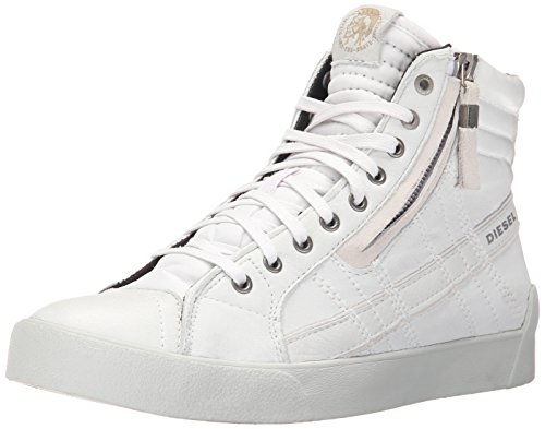 Diesel Stivaletto Sneaker Uomo Zip D-String Plus Leather White-40