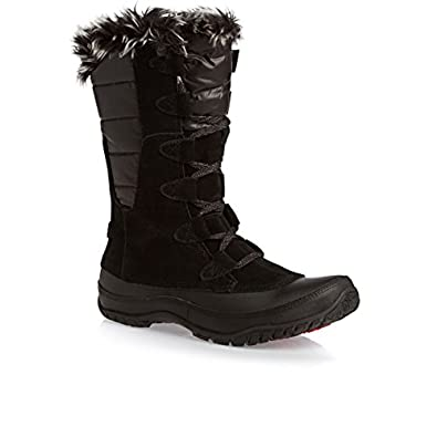 THE NORTH FACE NUPTSE PURNA SHINY TNF BLACK/TNF BLACK WOMENS WATERPROOF BOOTS Size 6.5M