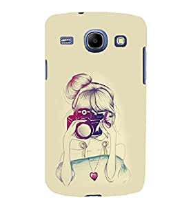 PRINTSWAG GIRL WITH CAMERA Designer Back Cover Case for SAMSUNG GALAXY CORE I8262